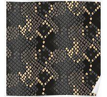 Snake skin artificial seamless texture. Poster