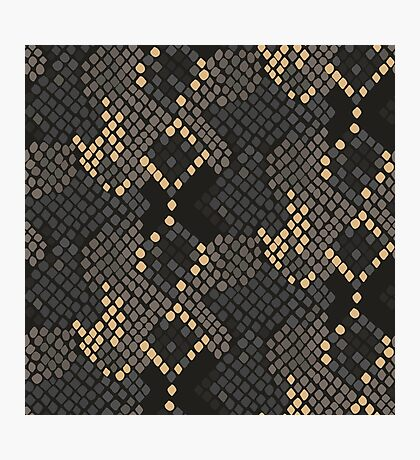 Snake skin artificial seamless texture. Photographic Print