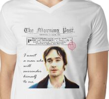 Mr. Darcy Pride & Prejudice Mens V-Neck T-Shirt