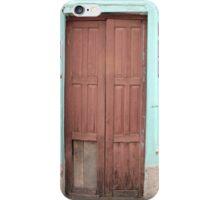 Wood Door in Painted Wall iPhone Case/Skin