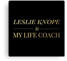 """Leslie Knope is My Life Coach"" - Gold & Black Edition Canvas Print"