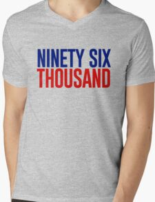 Ninety Six Thousand (Red and Blue) Mens V-Neck T-Shirt