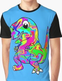 Colorful Dinosaur Graphic T-Shirt