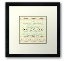 Marvin's Lullaby Cross Stitch Framed Print