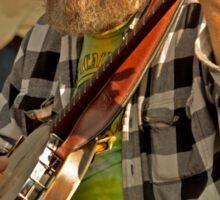 San Francisco Street Musician with Banjo  Sticker