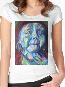Oh my Grandmother, what big eyes you have! Women's Fitted Scoop T-Shirt