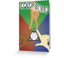Colorblind Print Greeting Card