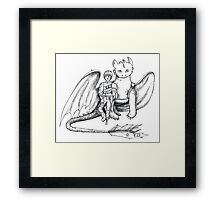 Hiccup and Toothless  Framed Print