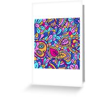 - Abstract fruits pattern 2 - Greeting Card