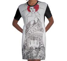 Mirror Graphic T-Shirt Dress