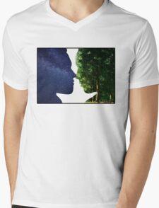 Earth and Sky Mens V-Neck T-Shirt