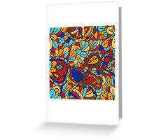 - Abstract fruits pattern 3 - Greeting Card