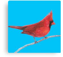 Red Cardinal Bird painting Canvas Print