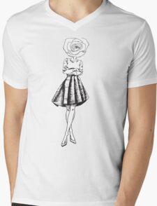 Flower Child Mens V-Neck T-Shirt