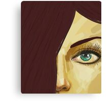 Red hair green eyes Canvas Print