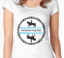 Modern equine fancy logo Women's Fitted Scoop T-Shirt