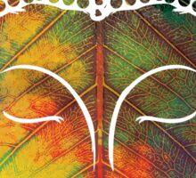 Buddha on pipal leaf Sticker