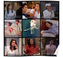 Monica Geller Quotes Collage #1 Poster