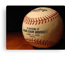 MLB Ball Canvas Print