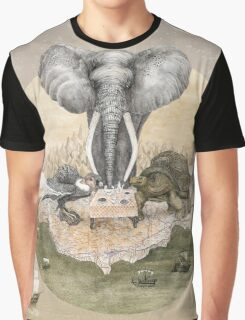 Elephant turtle condor tea time Graphic T-Shirt
