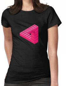 Escher Toy Bricks - Pink Womens Fitted T-Shirt