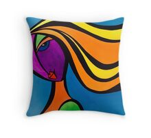 Flouro girl! Throw Pillow