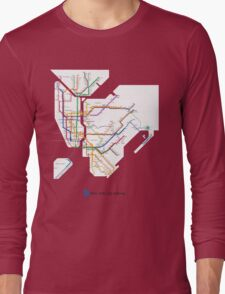 new york subway diagram Long Sleeve T-Shirt
