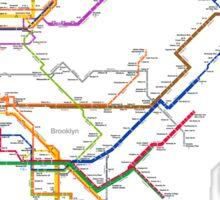 new york subway diagram Sticker