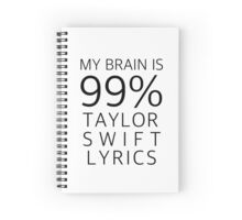 TAYLOR SWIFT LYRICS Spiral Notebook