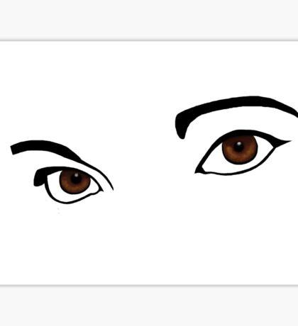 See Me Brown Eyes Sticker