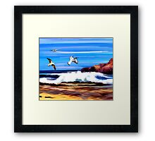Beach & Birds Framed Print