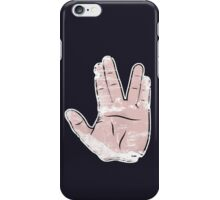 spock hand iPhone Case/Skin