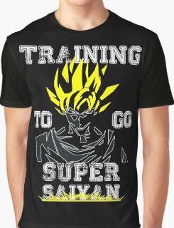 TRAINING TO GO SUPER SAIYAN -WHITE EDITION   Graphic T-Shirt