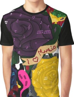I <3 Music Graphic T-Shirt