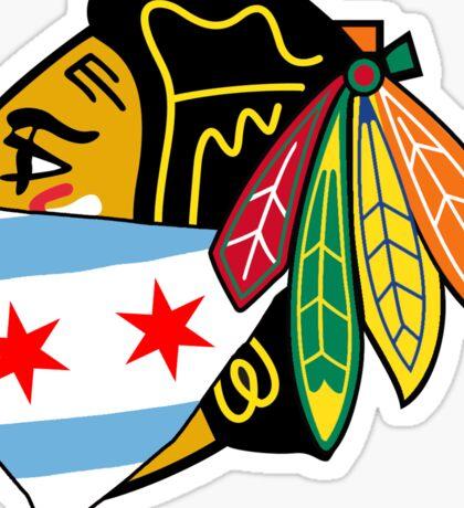 Chicago Blackhawks Logo With City Bandana  Sticker