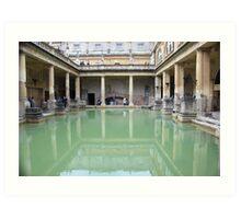 Roman Bath reflection Art Print