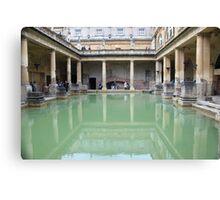 Roman Bath reflection Canvas Print