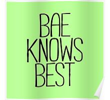BAE KNOWS BEST Poster