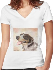 Blue Heeler Women's Fitted V-Neck T-Shirt