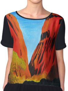 Colours of the Outback Chiffon Top