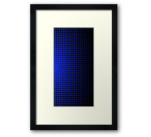 Halftone Dots - Blue Framed Print
