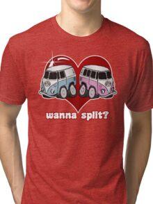 Volkswagen Kombi Tee Shirt - Wanna Split Tri-blend T-Shirt