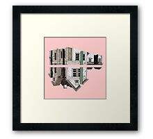 house in a pink Framed Print