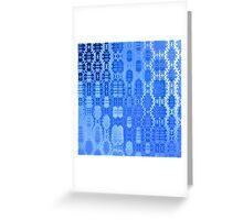 Martian Energies Pattern (blue) Greeting Card
