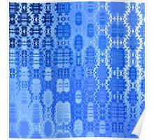 Martian Energies Pattern (blue) Poster