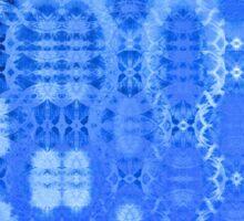 Martian Energies Pattern (blue) Sticker