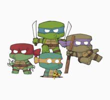 Chibi Half Shell Heroes Kids Tee