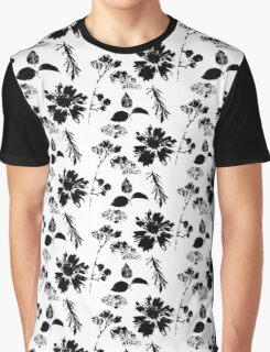 Black Flowers ii Graphic T-Shirt