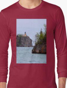 Vertical Split Rock Long Sleeve T-Shirt