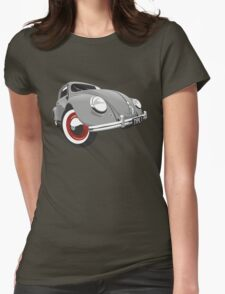 VW Beetle type 1 grey Womens Fitted T-Shirt